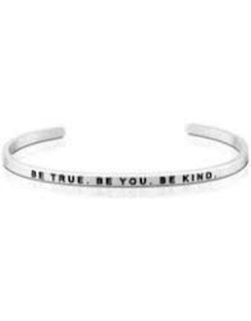 MantraBand Bracelet Be True- Silver