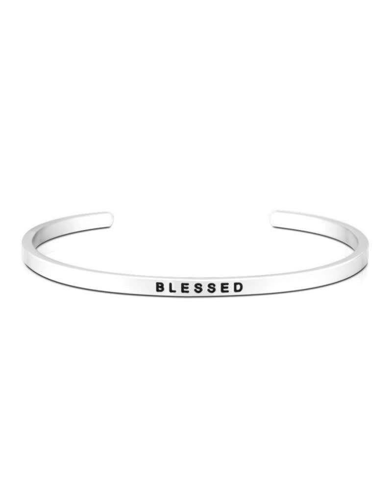MantraBand Bracelet Blessed- Silver