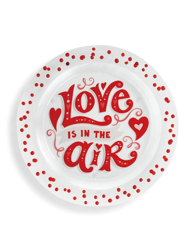 Love is In The Air Glass Plate