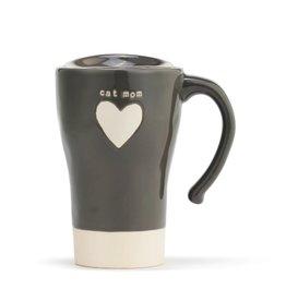 Travel Mug Heart Cat Mom