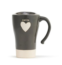 Demdaco Travel Mug Heart Smile