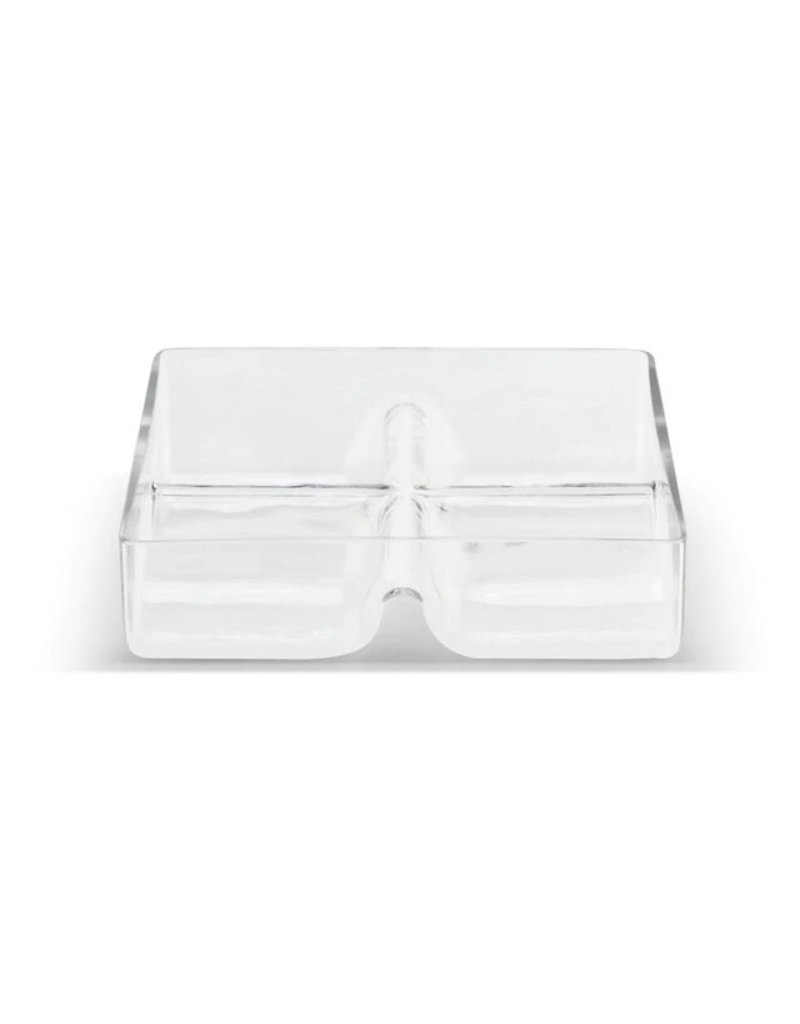 Glass 4 Section Divided Serving Dish