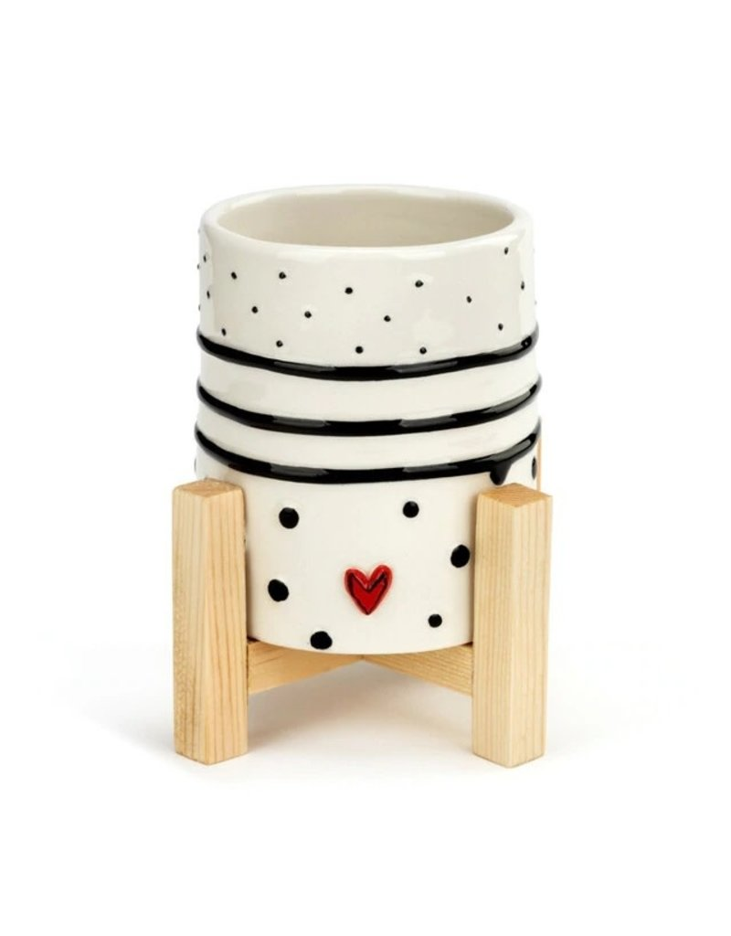 Demdaco Dots and Stripes Mini Planter