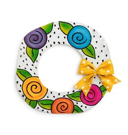 Demdaco Door Screening Flower Wreath