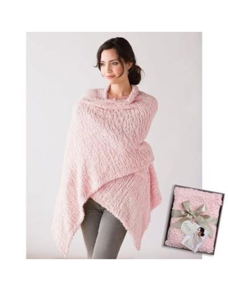 Demdaco Giving Shawl Pink