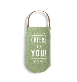 Demdaco Wine Bottle Bag Cheers to You!