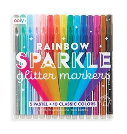 Rainbow Sparkle Glitter Markers