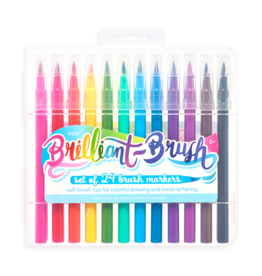 Brilliant Brush Markers Set of 24