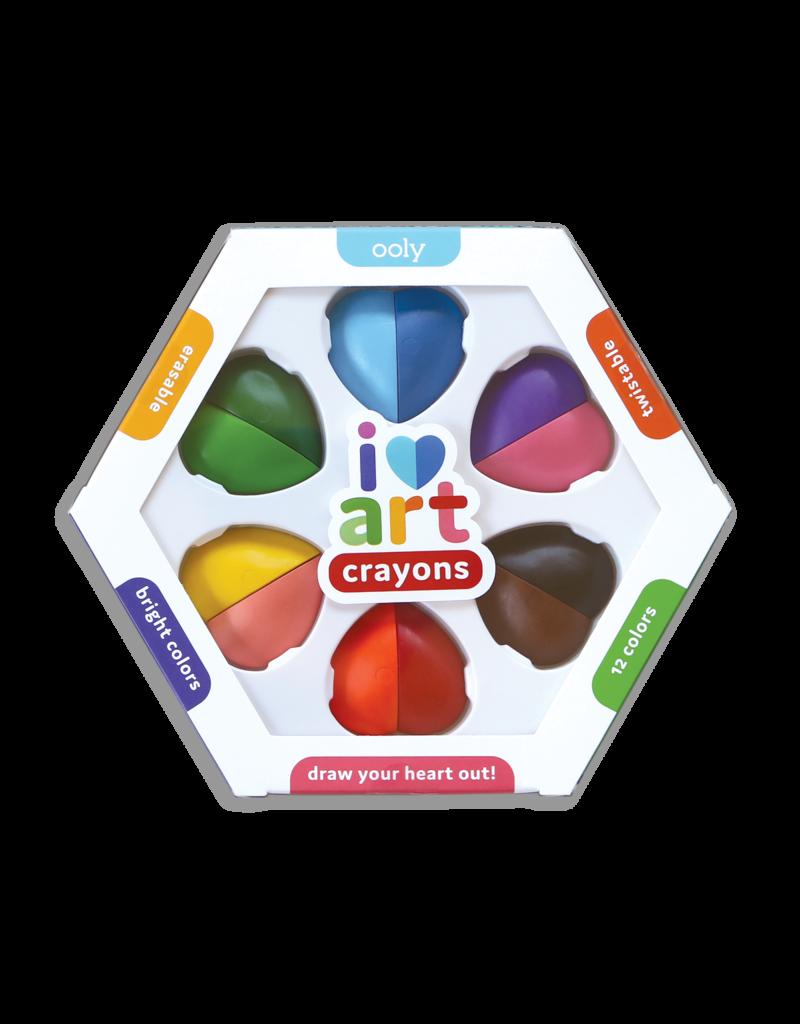 I Heart Art Erasable Crayons Set of 6