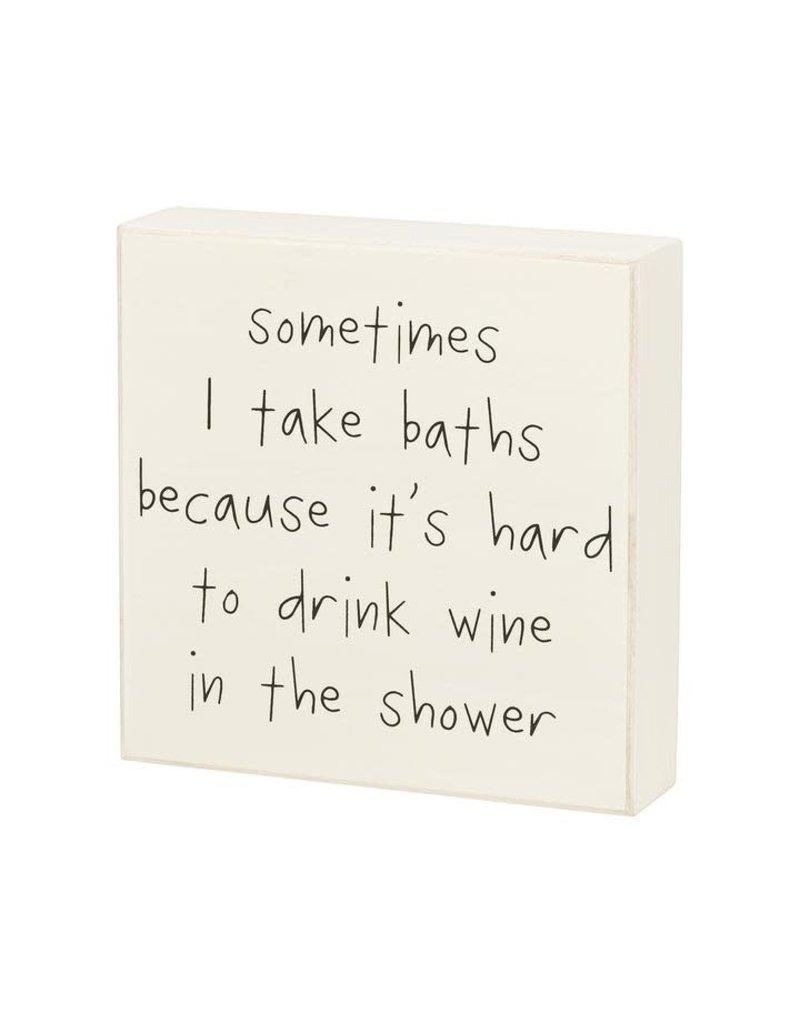 Box Sign Drink Wine