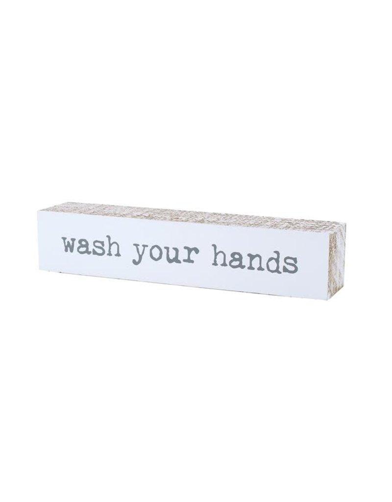 Shelf Sitter Wash Hands