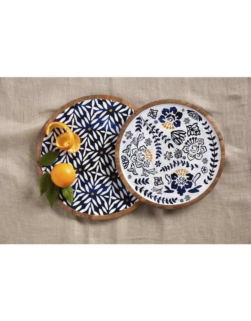 Mud Pie Indigo Round Nested Platters