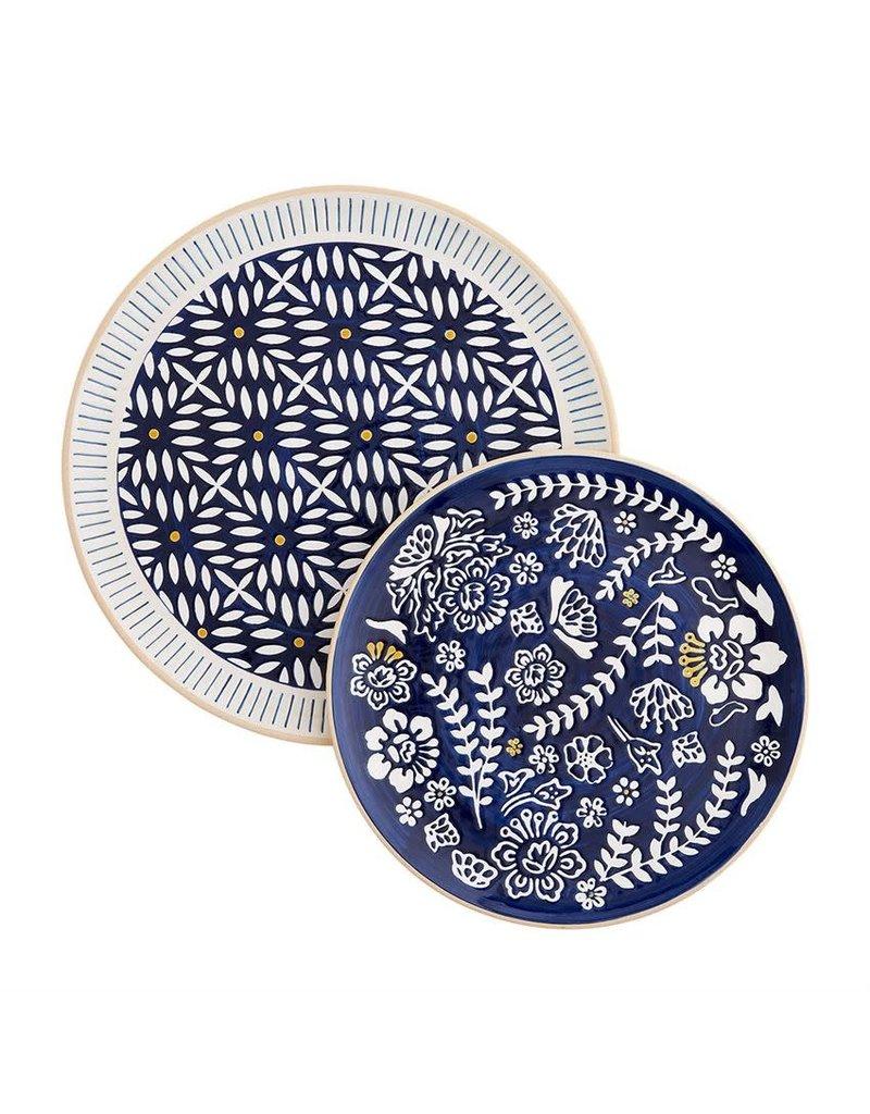 Indigo Round Nested Platters