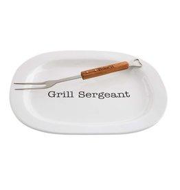 Mud Pie Grill Sergeant Platter Set