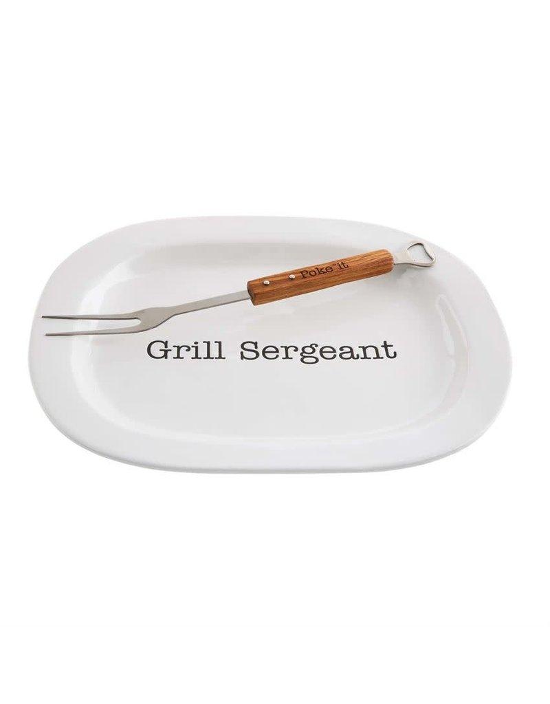 Grill Sergeant Platter Set