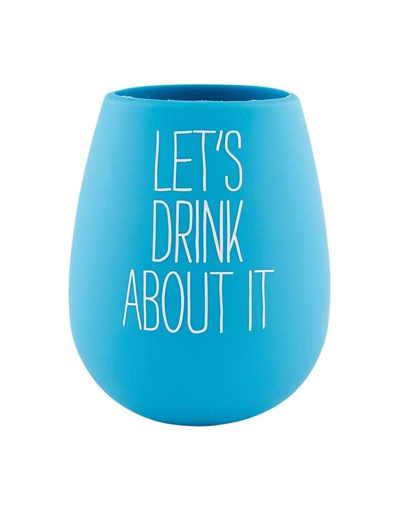 Mud Pie Silicone Wine Glass Let's Drink