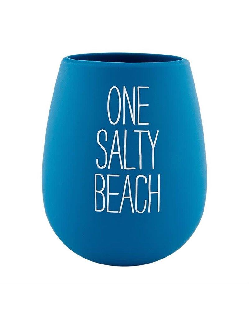 Mud Pie Silicone Wine Glass Salty Beach