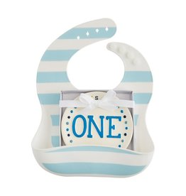 Mud Pie Bib and Plate Set One Boy