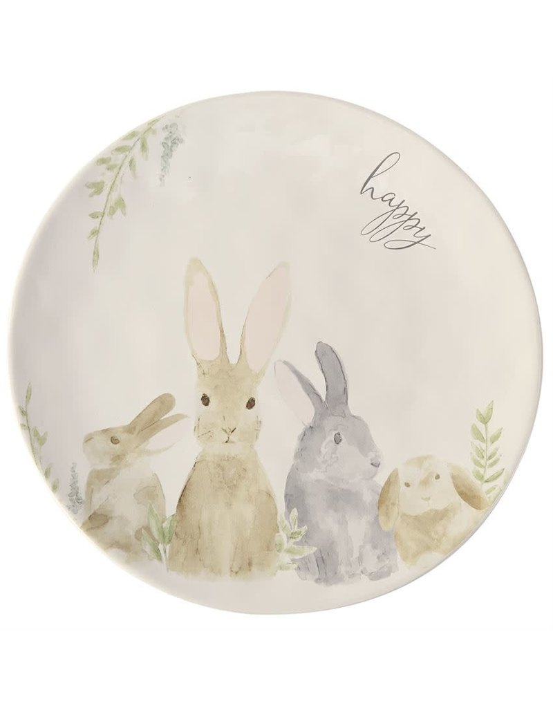 Easter Watercolor Round Bunny Platter