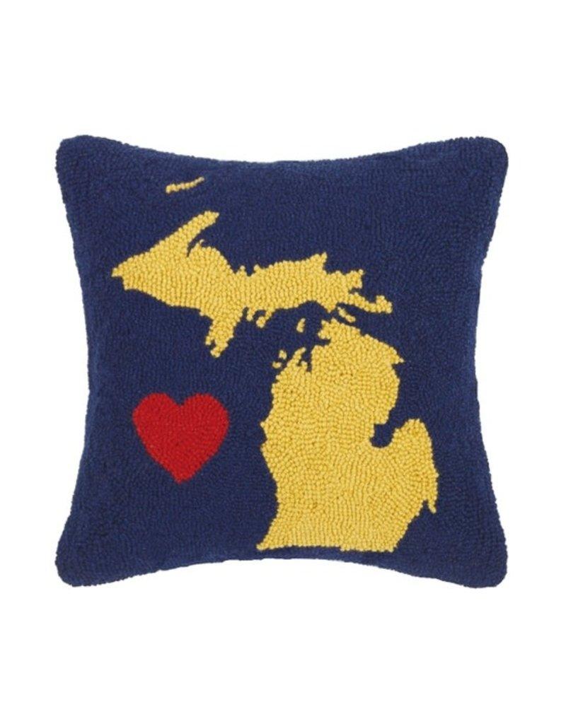 Michigan State Heart Hook Pillow