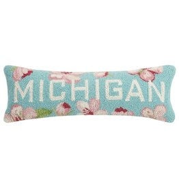 Peking Handicrafts Michigan Hook Pillow Floral
