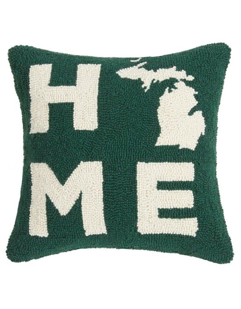 Michigan Home Hook Pillow Green