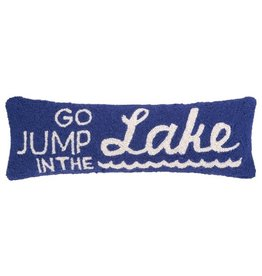 Go Jump in the Lake Hook Pillow