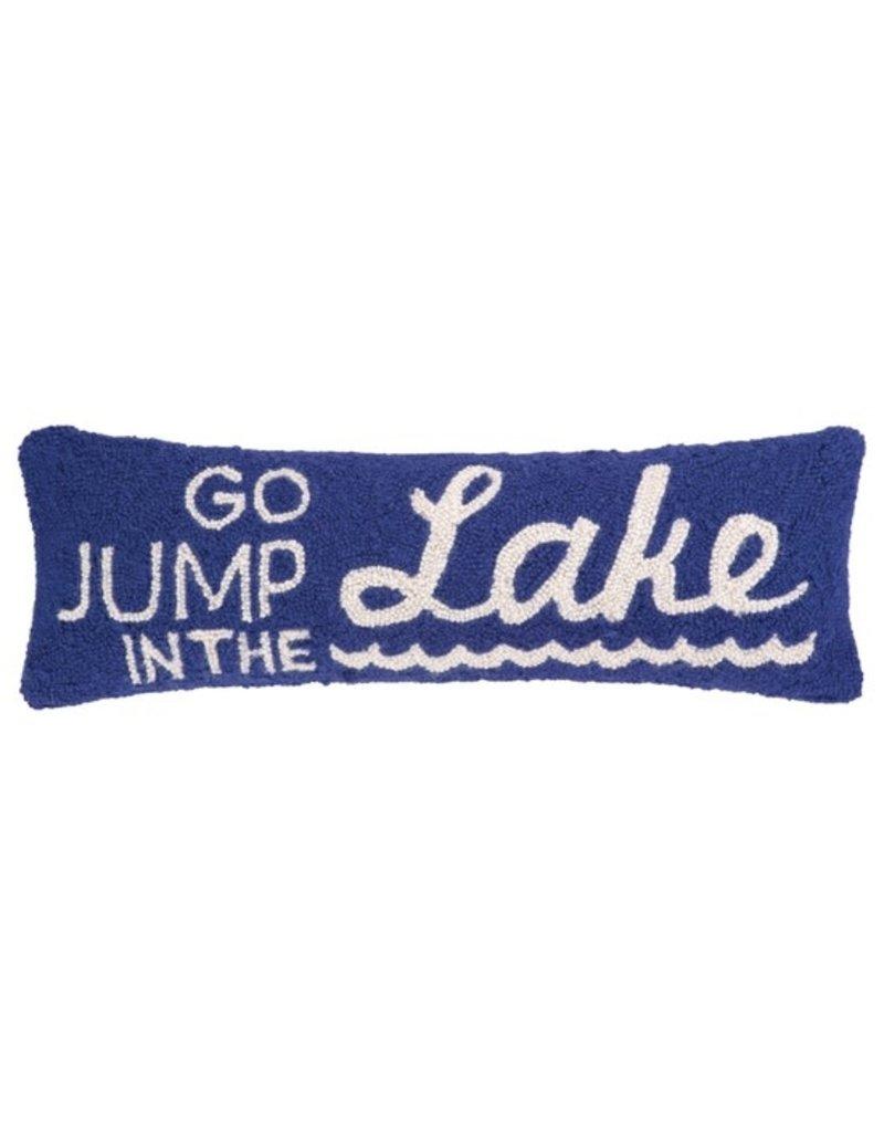 Peking Handicrafts Go Jump in the Lake Hook Pillow