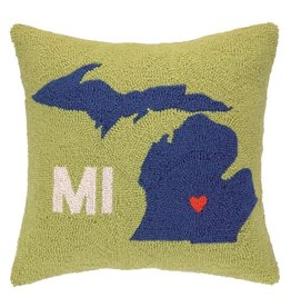Peking Handicrafts My Heart in Michigan Pillow