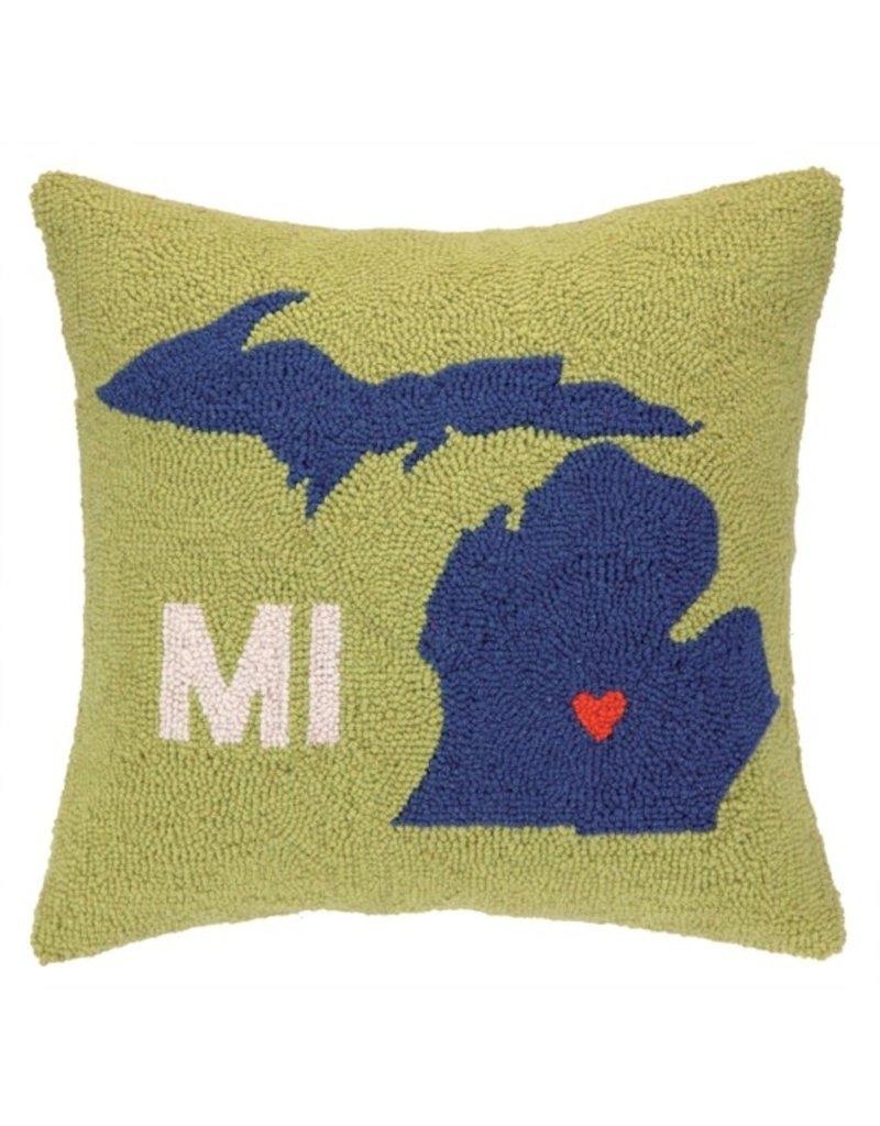 My Heart in Michigan Pillow