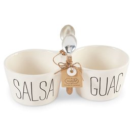 Mud Pie Bistro Salsa and Guac Double Dip Set