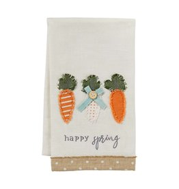Mud Pie Applique Towel Carrots