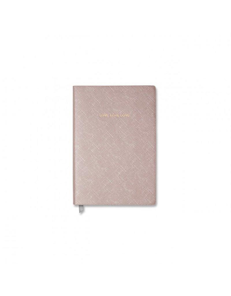 Katie Loxton Katie Loxton Small Notebook-Love Love Love Metallic Rose Gold