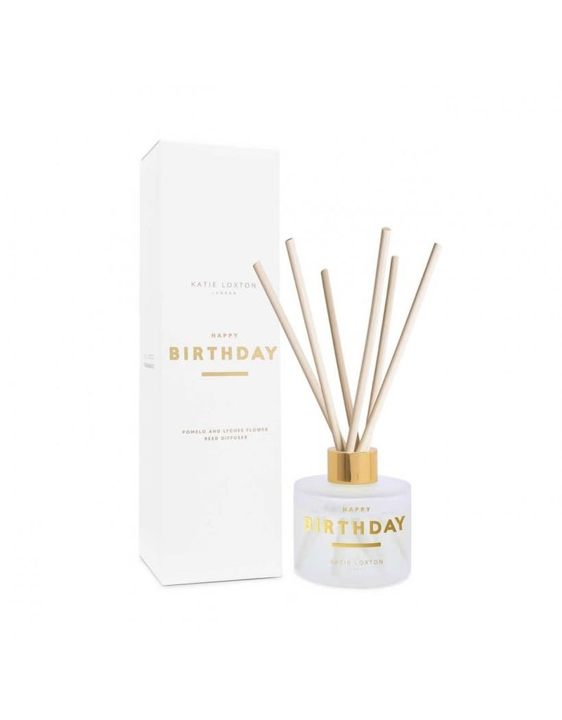 Katie Loxton Katie Loxton Sentiment Reed Diffuser- Happy Birthday Pomelo and Lychee Flower
