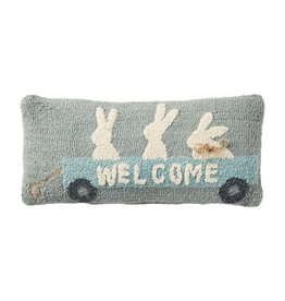 Hook Pillow Bunnies in Wagon