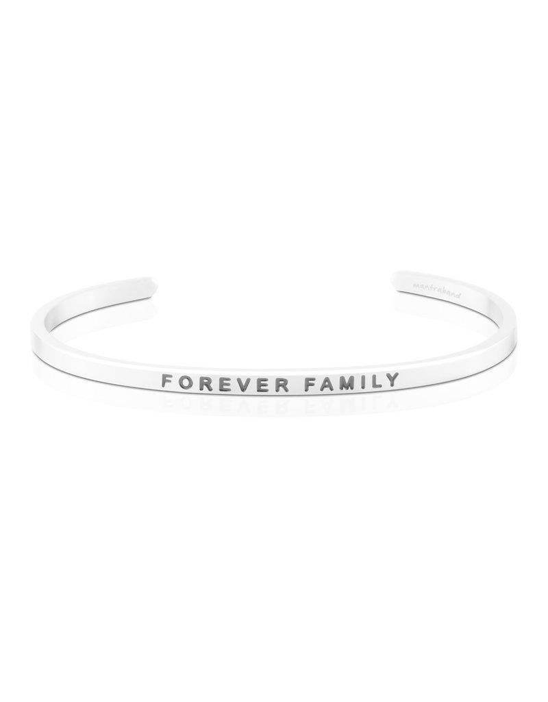 MantraBand Bracelet Forever Family- Silver