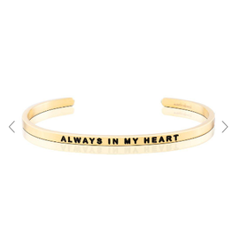 MantraBand Bracelet Always In Heart- Gold