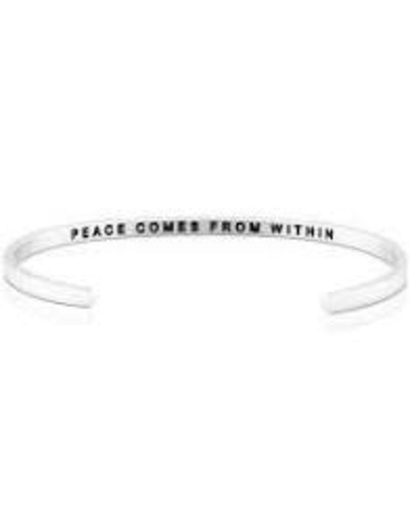 MantraBand Bracelet Peace Within- Silver