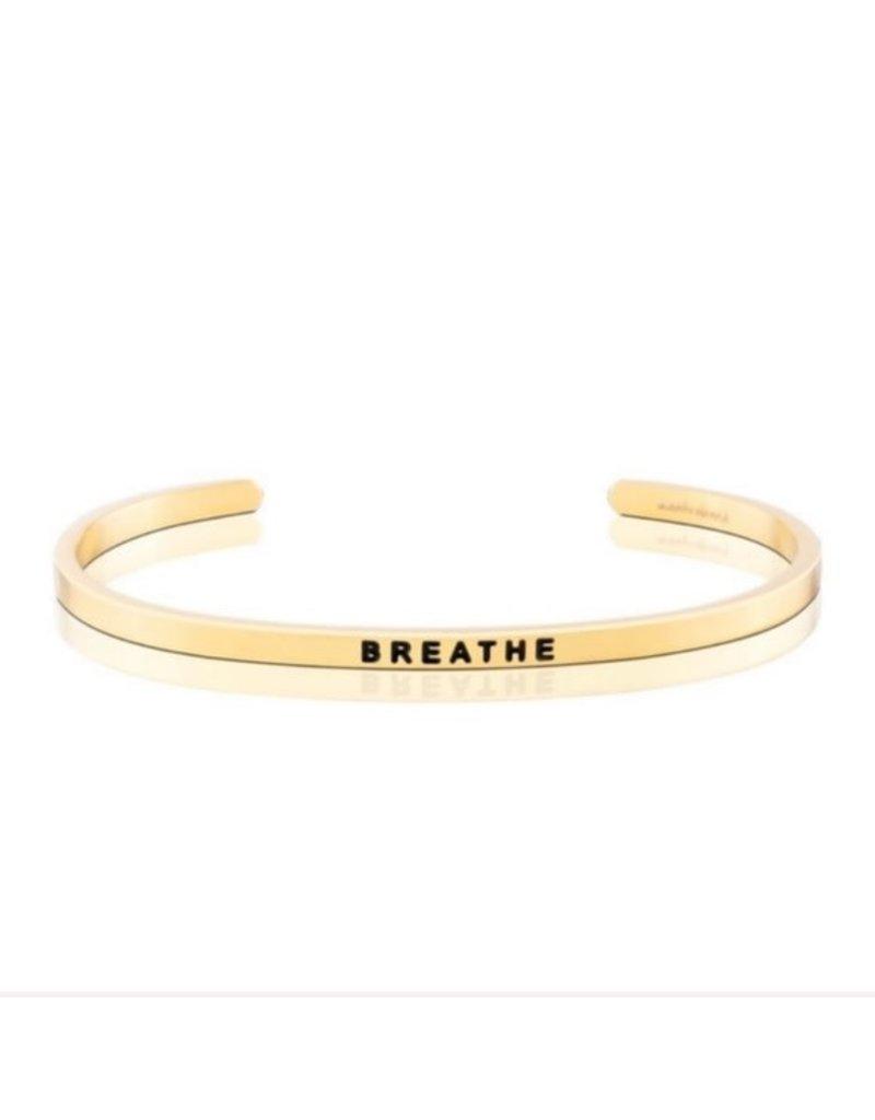 MantraBand Bracelet Breathe- Gold