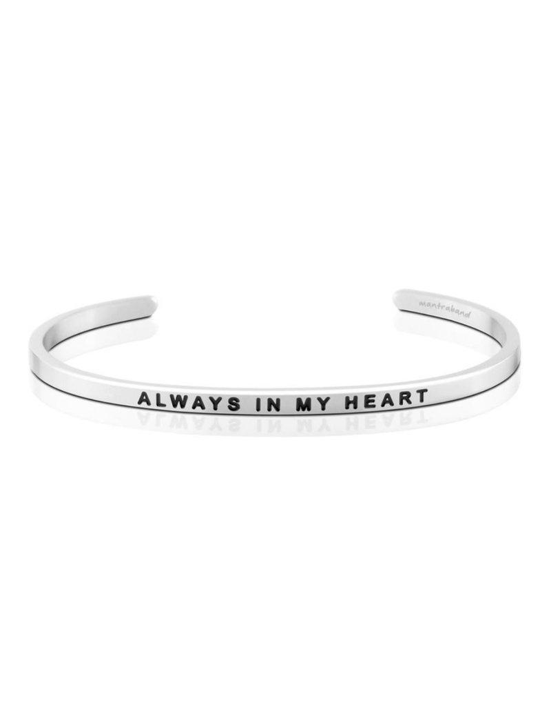 MantraBand Bracelet Always In Heart- Silver