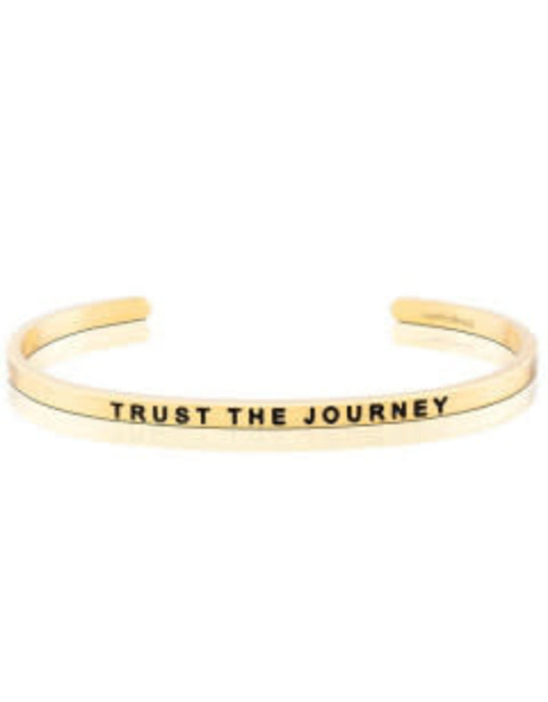 MantraBand Bracelet Trust The Journey- Gold
