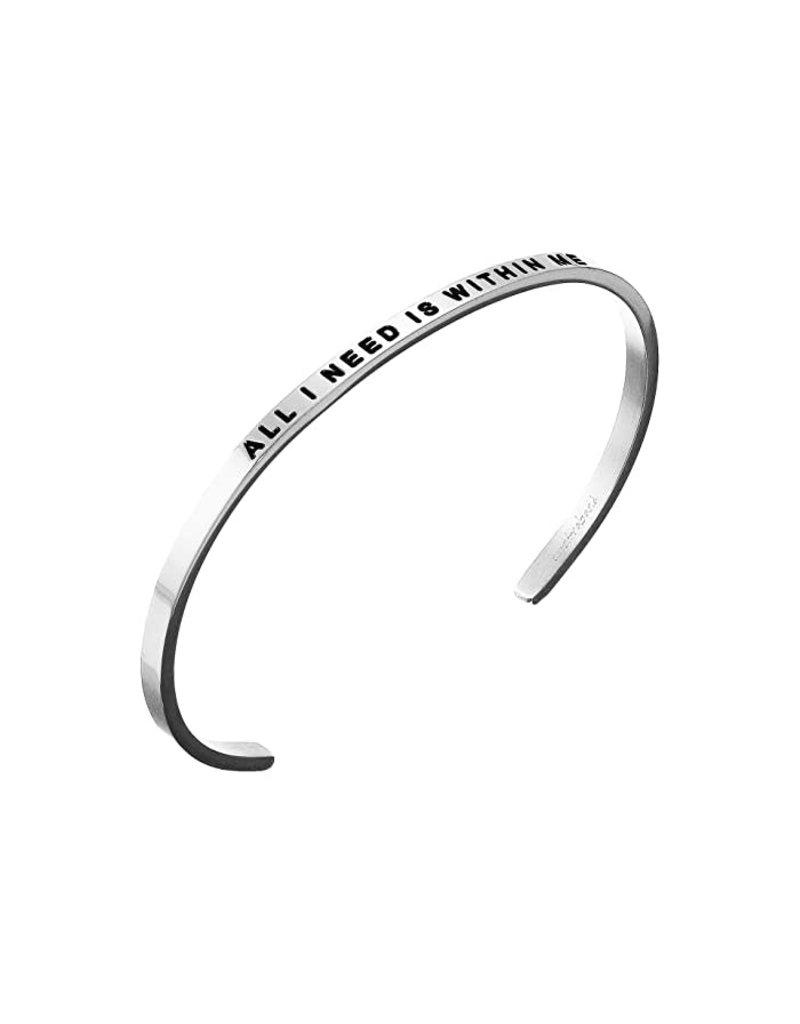MantraBand Bracelet All I Need- Silver