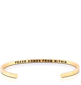 MantraBand MantraBand Bracelet Peace Within- Gold