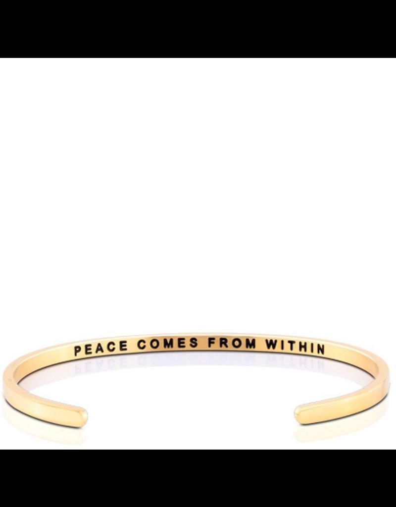 MantraBand Bracelet Peace Within- Gold