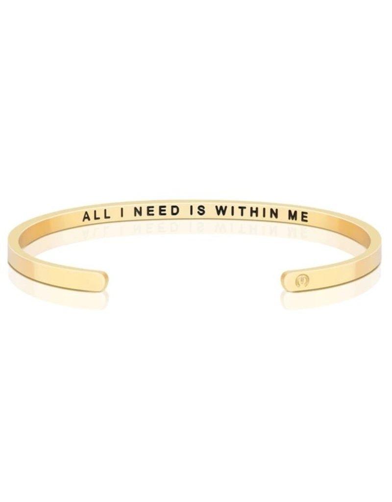 MantraBand Bracelet All I Need- Gold