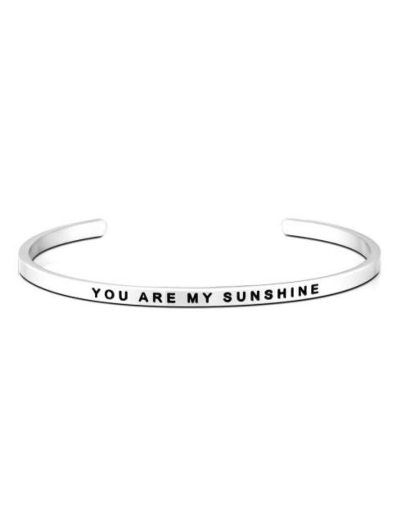 MantraBand Bracelet You Are My Sunshine- Silver