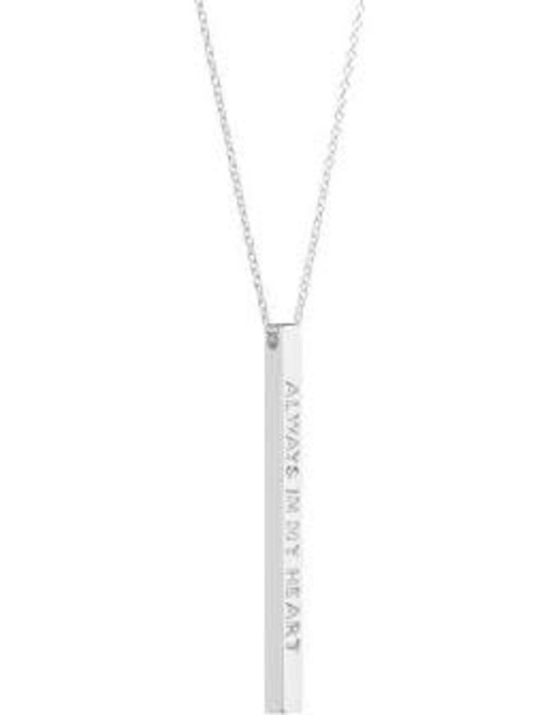 MantraBand Necklace Always In My Heart- Silver