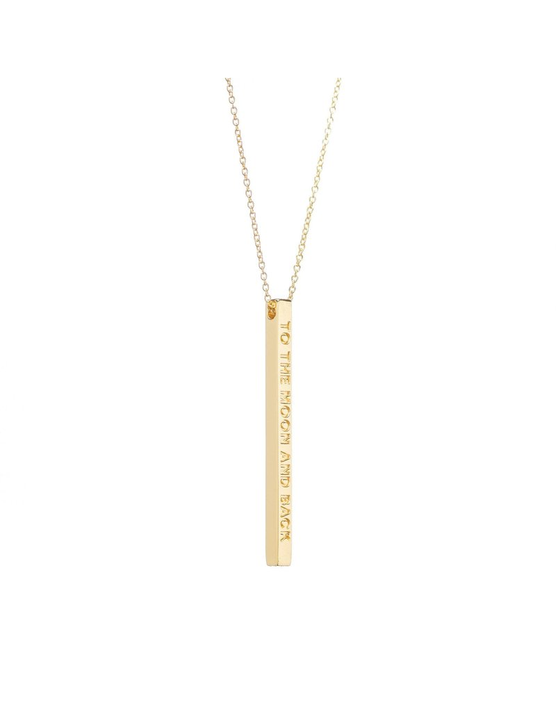 MantraBand Necklace To The Moon- Gold