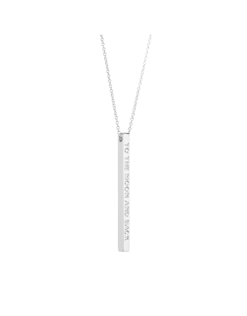 MantraBand Necklace To The Moon- Silver