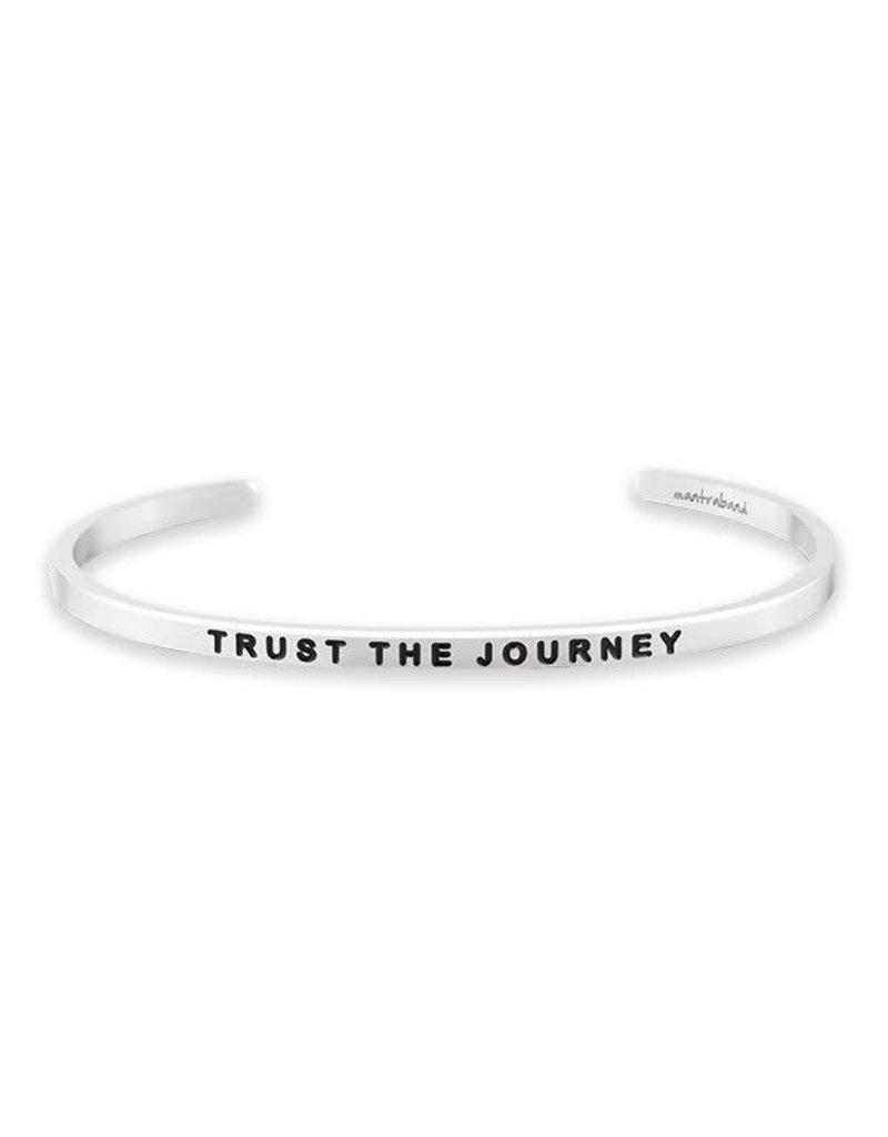 MantraBand Bracelet Trust The Journey- Silver